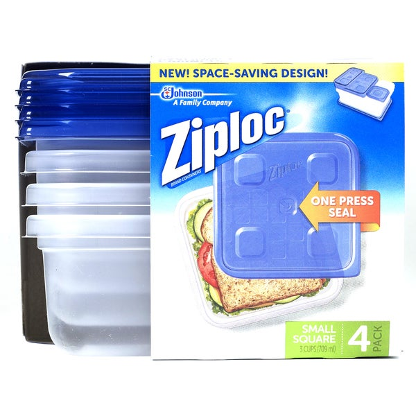 Ziploc 70935 Small Square Container 4-count 20487588
