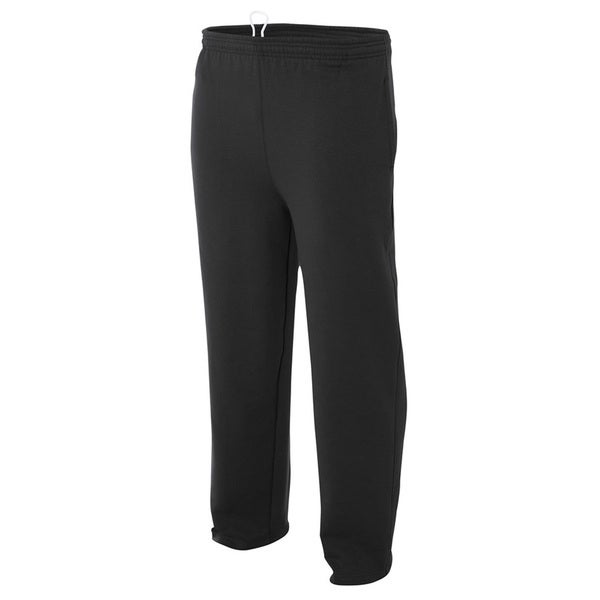 Men's Fleece Black Drawstring Tech Pants