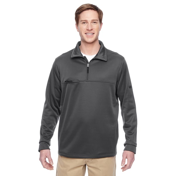 Adult Task Performance Fleece Half-Zip Men's Big and Tall Dark Charcoal Jacket