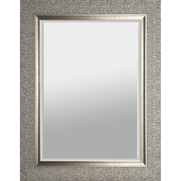 Hobbitholeco Mosaic Silvertone Rectangular Beveled Mirror