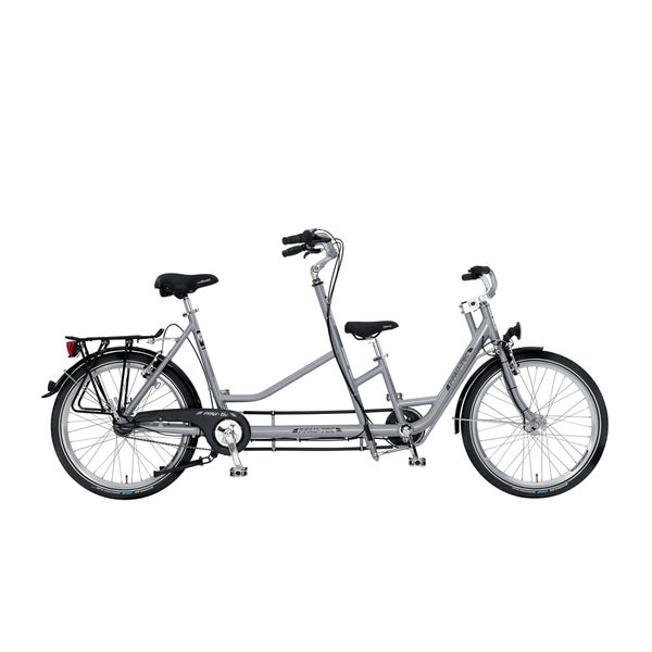 PFIFF Collecttivo Silver Colored Tandem Bicycle with 24 inch wheels