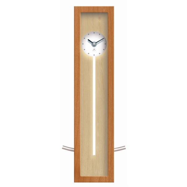 Infinity Instruments High Rise Natural 17-inch Wall/Tabletop Clock