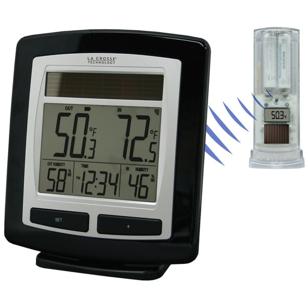 LaCrosse Technology WS6010UITCBP Solar Powered Temperature Station With Solar Sensor