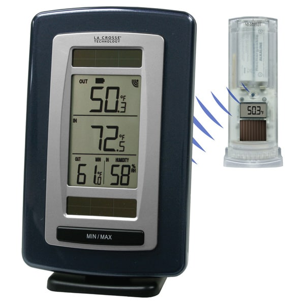 LaCrosse Technology WS6020UITCBP Solar Powered Temperature Station WIth Solar Sensor