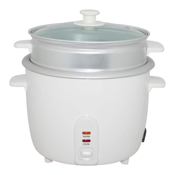 Electric Rice Cooker with Steamer 8 Cup