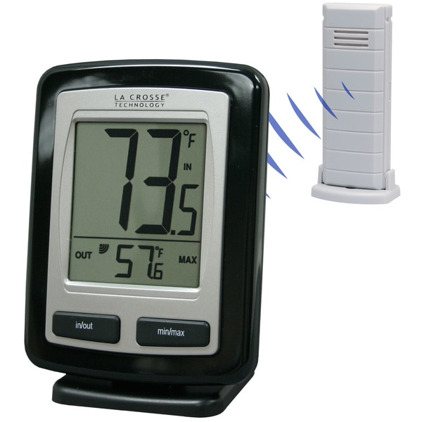 LaCrosse Technology WS9009BKITCBP Black Wireless Temperature Station