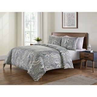 Laura Ashley Victoria 3 Piece Flannel Duvet Cover Set