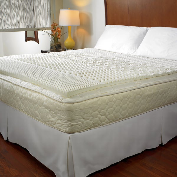 Convoluted 5-zone 1.5-inch Memory Foam Mattress Topper