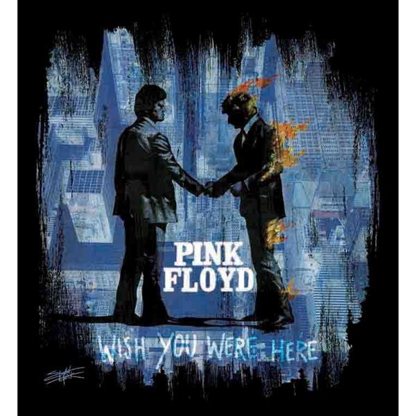 Stephen Fishwick Black and Blue Pink Floyd 'Wish You Were Here' Wall Art