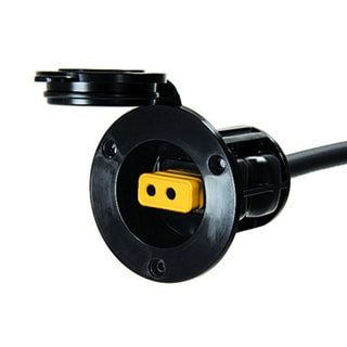 Cannon Black Plastic Flush Mount Power Port
