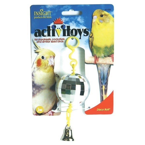 JW Pet Activitoy Disco Ball Bird Toy