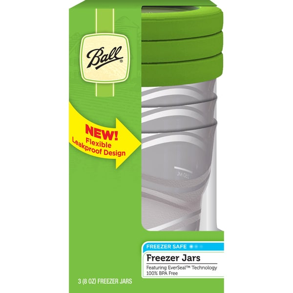 Ball 82100 8 Oz Plastic Freezer Jars 3-count