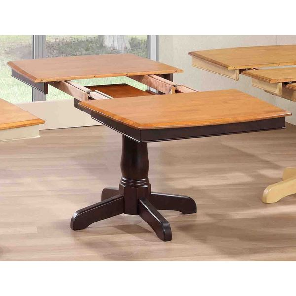 Iconic Furniture Whiskey/Mocha Rubberwood 36-inch x 48-inch x 60-inch Boat-shape Table
