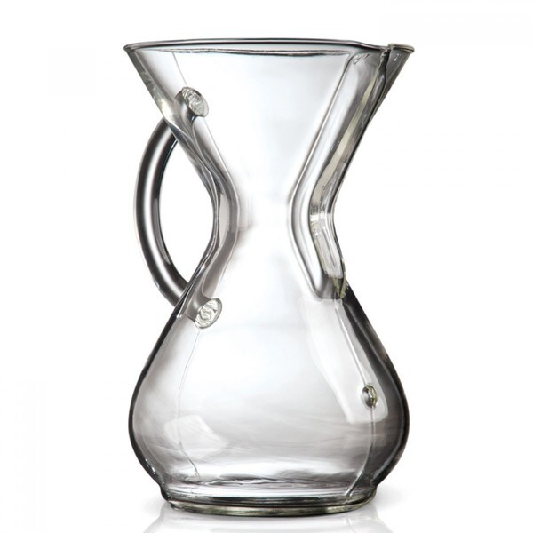 Chemex Clear Glass 6-Cup Carafe With Handle