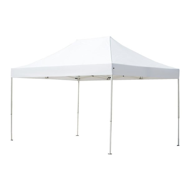 Abba Patio 10 x 15 Foot Outdoor Heavy Duty Pop Up Portable White Canopy Event