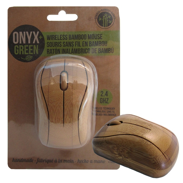 Onyx And Blue Corporation 7600 Bamboo Computer Wireless Mouse