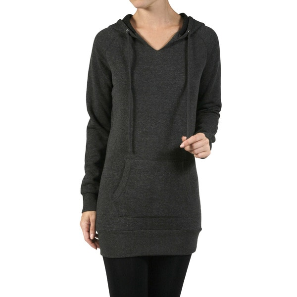 JED Women's Longline Fleece Hoodie Sweater Tunic