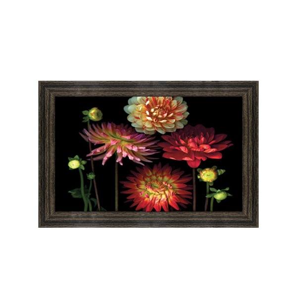 Pip Bloomfield-Dahlia Garden Framed Art