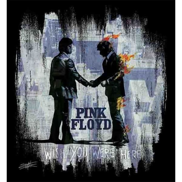 Stephen Fishwick Pink Floyd 'Wish You Were Here White' Canvas Wall Art