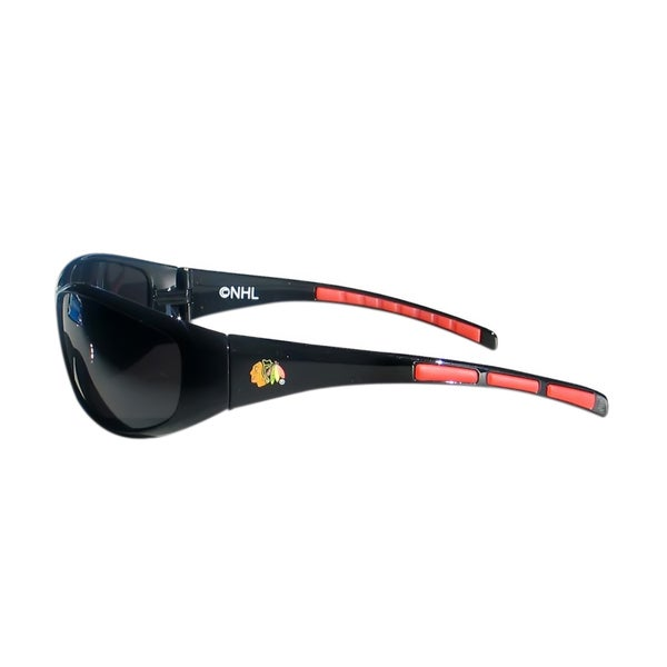 NHL Chicago Blackhawks Sports Team Logo Wrap Sunglasses