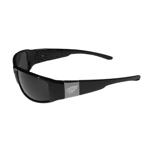 NHL Sports Team Logo Detroit Red Wings Chrome Wrap Sunglasses