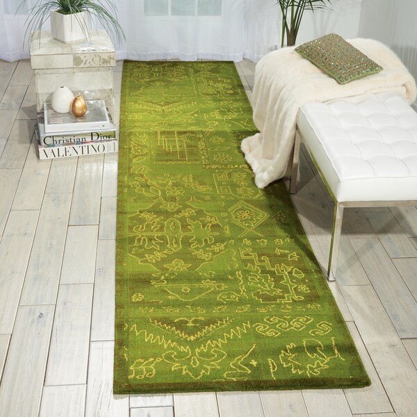 Nourison Silk Infusion Green Area Rug (2'6 x 10')