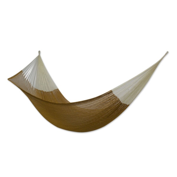 Handcrafted Cotton 'Caribbean Sun' Hammock (Triple) (Mexico)