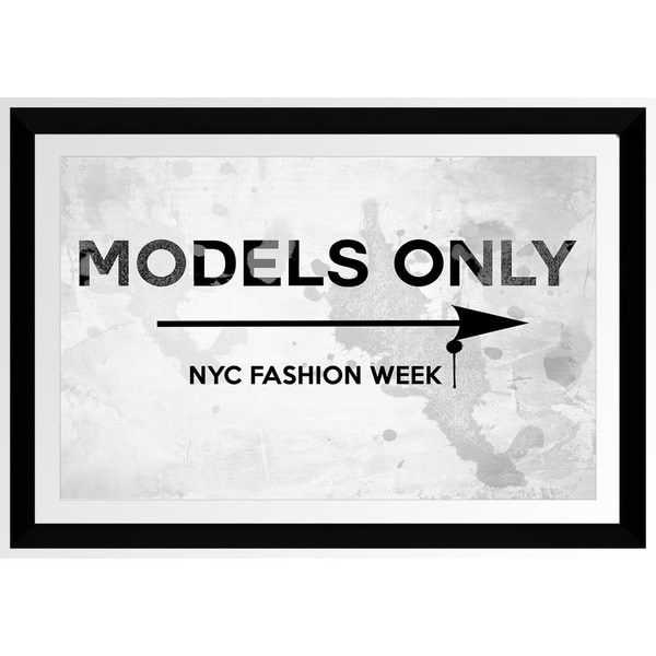 BY Jodi 'Models Only Nyc Fashion Week' Framed Plexiglass Wall Art