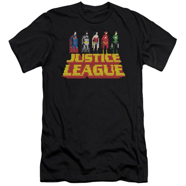 JLA/Standing Above Short Sleeve Adult T-Shirt 30/1 in Black