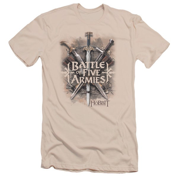 Hobbit/Battle Of Armies Short Sleeve Adult T-Shirt 30/1 in Cream
