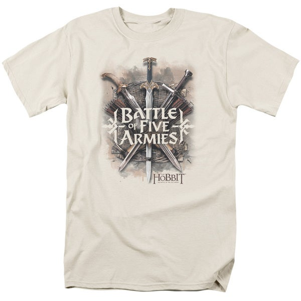 Hobbit/Battle Of Armies Short Sleeve Adult T-Shirt 18/1 in Cream