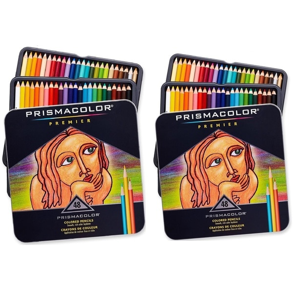 Prismacolor Premier Soft Core Colored Pencil, Set of 48 Assorted Colors (Pack of 2)