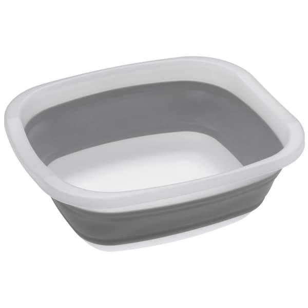 Progressive CDT-1 10 Quart Medium Grey & White Collapsible Tub