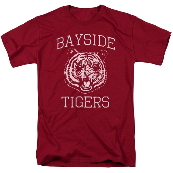 Saved By The Bell/Go Tigers Short Sleeve Adult T-Shirt 18/1 in Cardinal