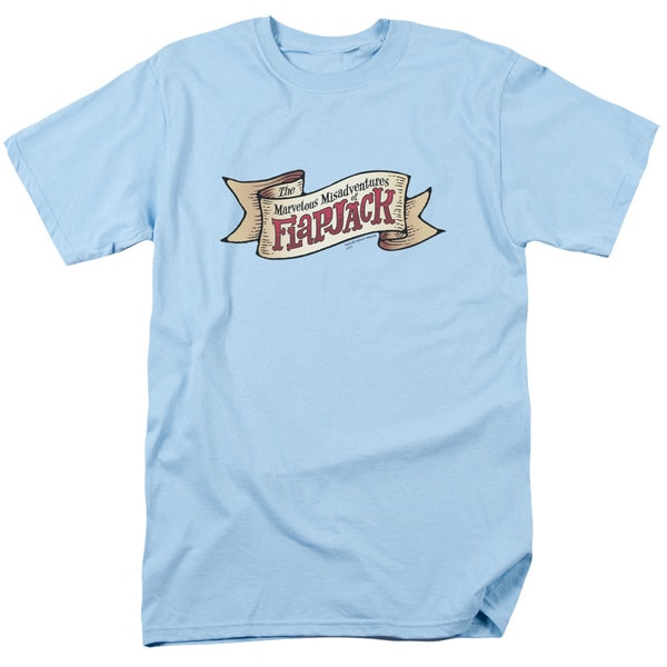 Flapjack/Flapjack Logo Short Sleeve Adult T-Shirt 18/1 in Light Blue