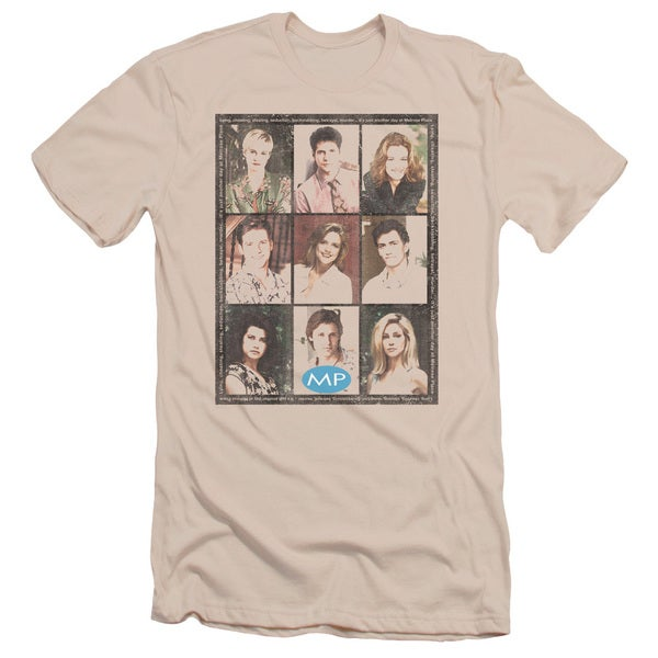 Mp/Season 2 Cast Squared Short Sleeve Adult T-Shirt 30/1 in Cream