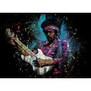 Stephen Fishwick Jimi Hendrix 'Electric Glow' Canvas Wall Art