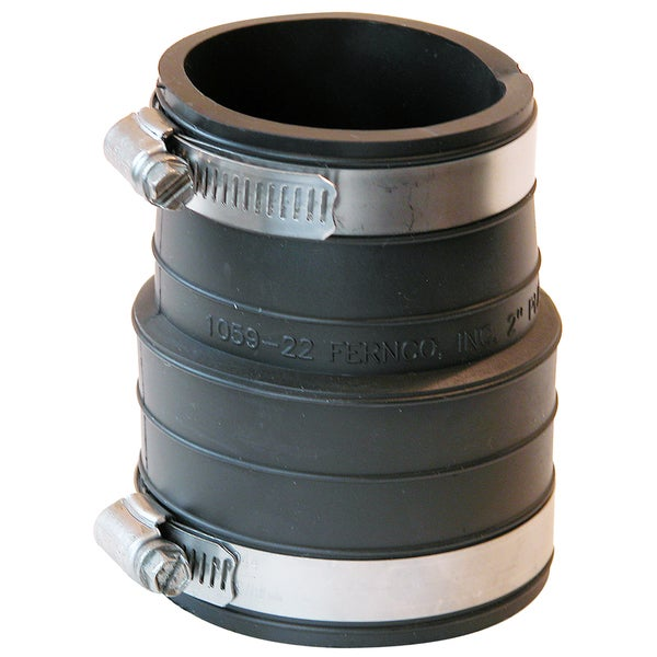 "Fernco P1059-44 4"" X 4"" Rubber Flexible Coupling Repair Fitting"