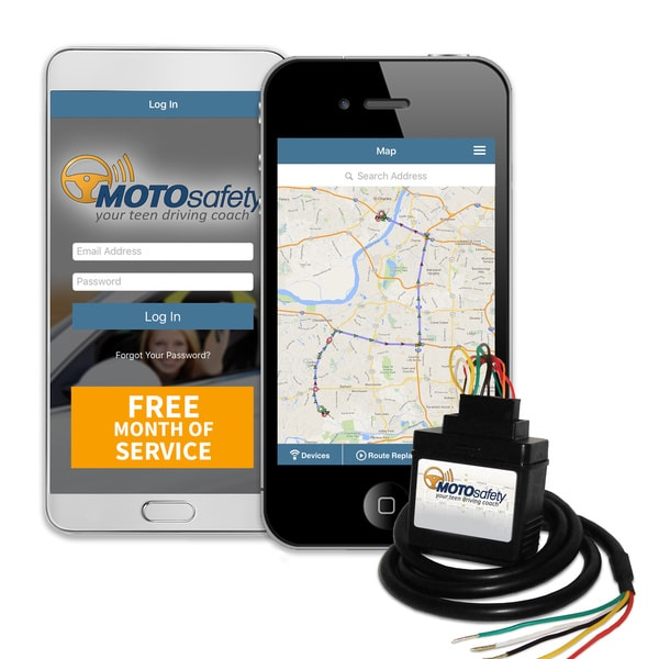 MOTOsafety Wired Teen Driving Coach Vehicle Monitoring System MWAAS1P1 with Free Month of 3G GPS Service