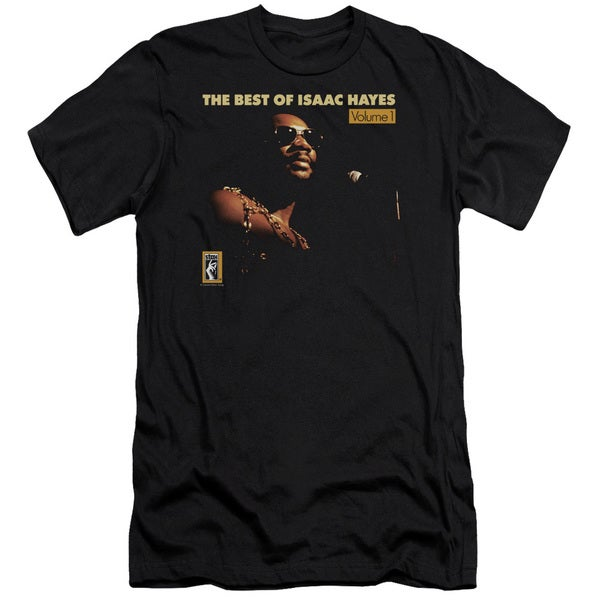Isaac Hayes/Chain Vest Short Sleeve Adult T-Shirt 30/1 in Black