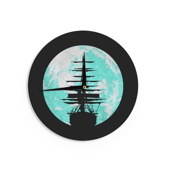 KESS InHouse Susannah Tucker 'Let Your Imagination Run Wild' Ocean Wall Clock
