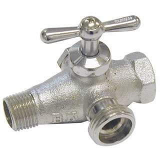 "Proline 102-205 1/2"" In-Line Bypass Reversible Brass Washing Machine Valve"