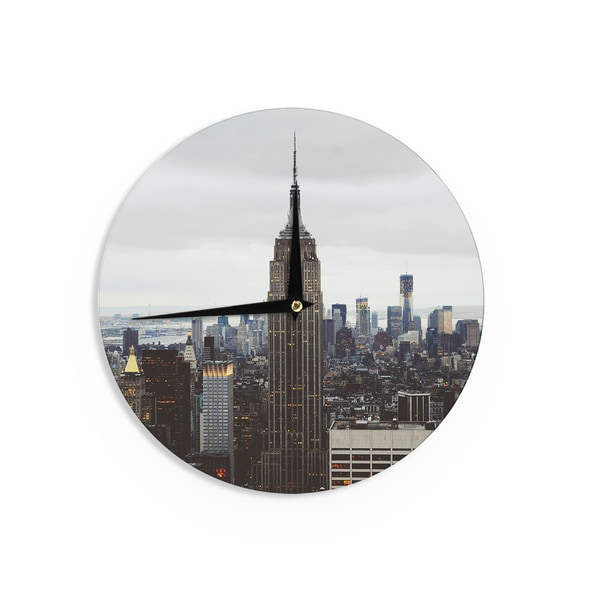 KESS InHouse Chelsea Victoria 'New York Stories' Urban Travel Wall Clock