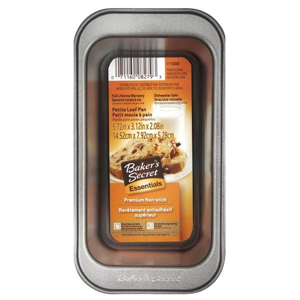 Bakers Secret 1114368 Baker's Secret Fruit Cake Mini Loaf Pan