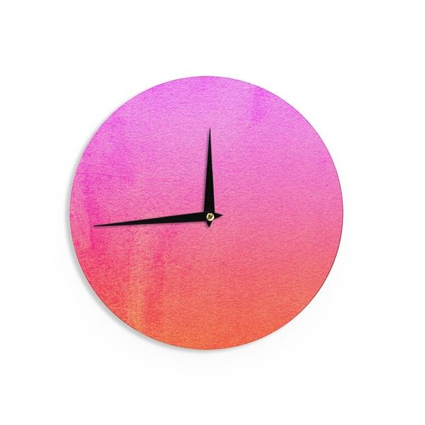 KESS InHouse Suzie Tremel 'Vintage Damask' Brown Gold Wall Clock