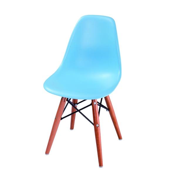Kids Blue/Orange Eames-style Chair