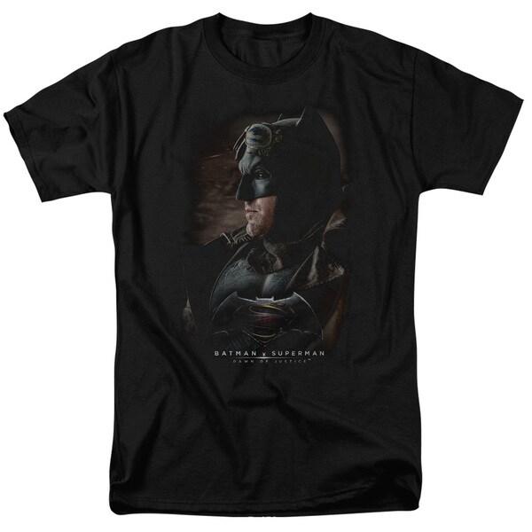 Batman V Superman/Desert Gear Short Sleeve Adult T-Shirt 18/1 in Black