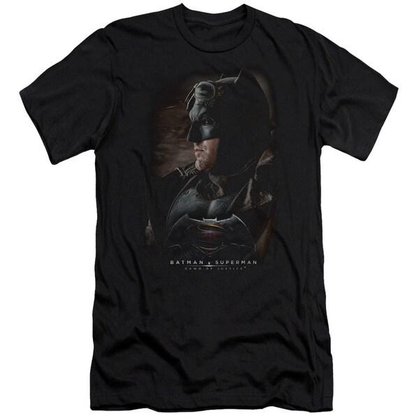 Batman V Superman/Desert Gear Short Sleeve Adult T-Shirt 30/1 in Black