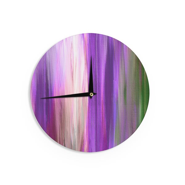 KESS InHouse Ebi Emporium 'Irradiated Multi 2' Purple Lavender Wall Clock