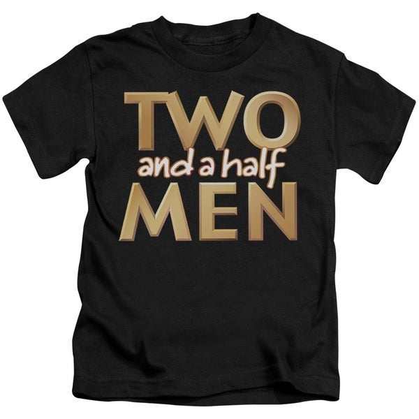 Two and A Half Men/Logo Short Sleeve Juvenile Graphic T-Shirt in Black
